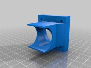 The casing for a Hotend 40mm fan.