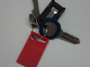 Wobbly Table Wedge Keychain
