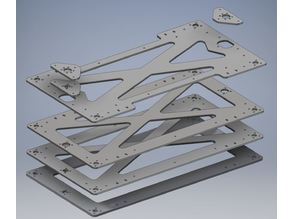 Flyingbear Tornado New Left, Right XY-Axis and Z-Plate for Lasercut.