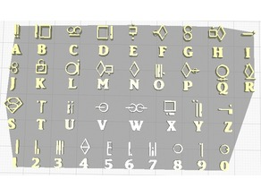 Kryptonian Alphabet and Numbers