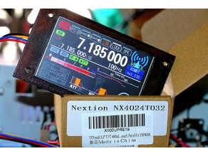 "Bezel for Nextion 3.25"" & tft driver file  for microbitx ubitx"