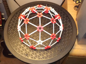 3D printed geodesic 2V dome parts kit