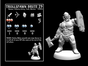 Trollspawn Brute (18mm scale)