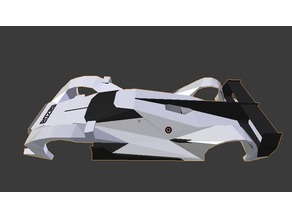 Low-Poly Mazda LM55 Vision Gran Turismo Body