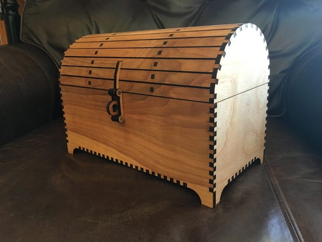 Treasure Chest with Hasp by rmm5t - Thingiverse