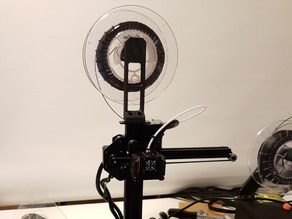 Two Parts Spool Holder for TEVO Michelangelo