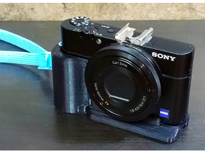 Sony RX100 1/2/3 grip wt flare base and center tripod mount