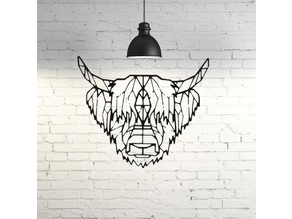 Bison Wall Sculpture 2D
