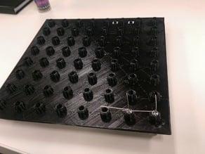 8X8X8 5mm LED cube jig