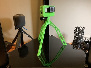 Fully Printable Tripod for Gopro etc (no hardware required)