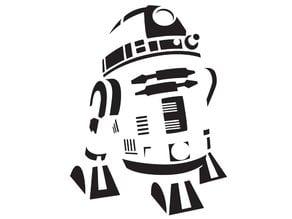 R2D2 Airbrush Stencil