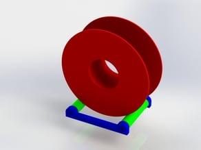 Filament spule rolling holder