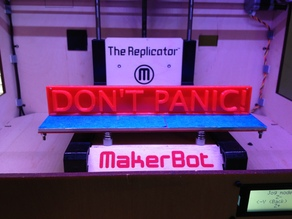 Don't Panic! sign