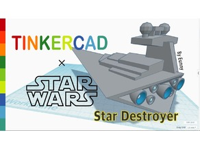Simple Star Destroyer with Tinkercad