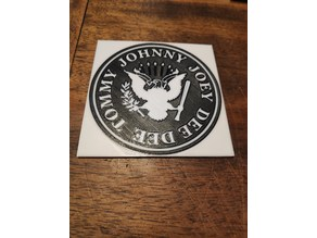 Ramones Beermat - round and Square for MMU2