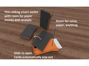 Smart Wallet - Sliding 3D printed wallet