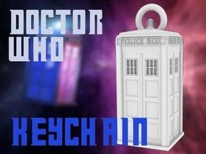 Tardis (doctor who) keychain
