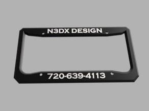 N3DX Design License Plate Frame