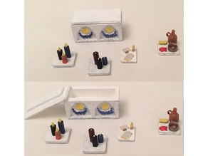 Miniature Moon Altar with Accessories