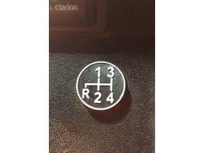 MGB Shift Pattern Cigar Plug Cover
