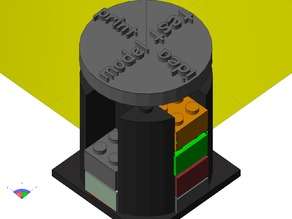 Progress visualization of printable 3D things with lego-likes