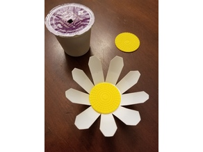 Upcycling Keurig K-Cups - Daisy