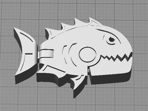 Attack of the Pianha's... Piranha fish with moving jaw and tail