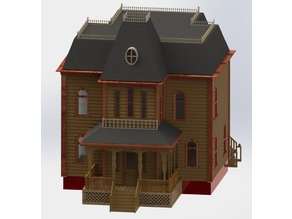 Psycho House - Thin Wall for Fast Print!