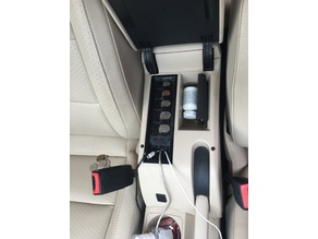 Center Console for Volkswagen Jetta with Coin Holder and Cord Ports