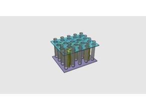 20 test tubes rack