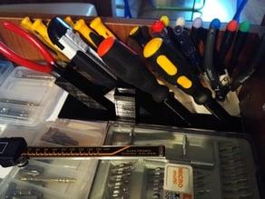 screwdirvers, knife and piels organizer