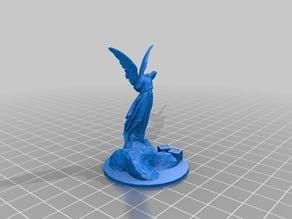 "Malifaux ""Angel"" Statue Stash Marker 50mm base insert"