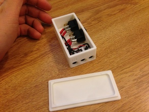 12v Circular Rocker Switch Box. Two 5.5x2.1mm Outputs 3D Abyss.