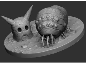 Ohmu Scene and Lone 3D Print Concept