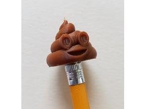 Poop Emoji Pencil Topper