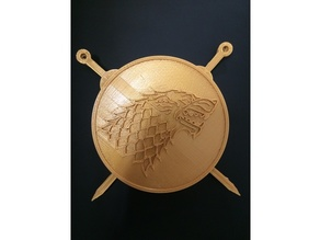 Game of Thrones - House Stark Coaster with Swords