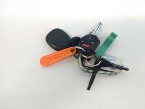 Custom Keychain with Proto Buildbar Logo