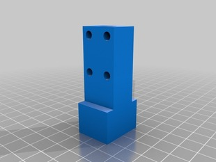Mendel 18mm square nut trap for Z axis Trapizoidal rod