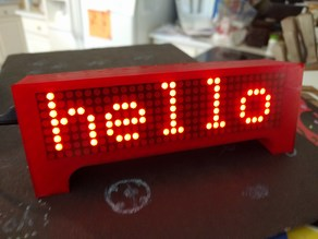ESP8266 Wemos Clock News Weather Scrolling Marquee