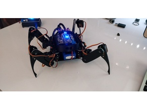 Face shell with eyes for Arduino Crawling Quadruped Robot Kit by Sunfounder