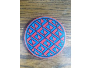 Multicolor layered snap-together coaster