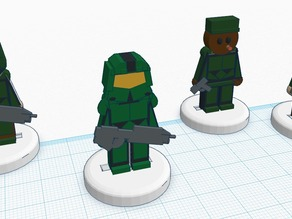 FlatMinis: Master Chief & UNSC Marines