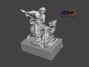 Neptune Sculpture (Greek Statue 3D Scan)