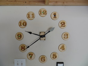 Large Wall Clock.  20 inches  Lasered  Wood.