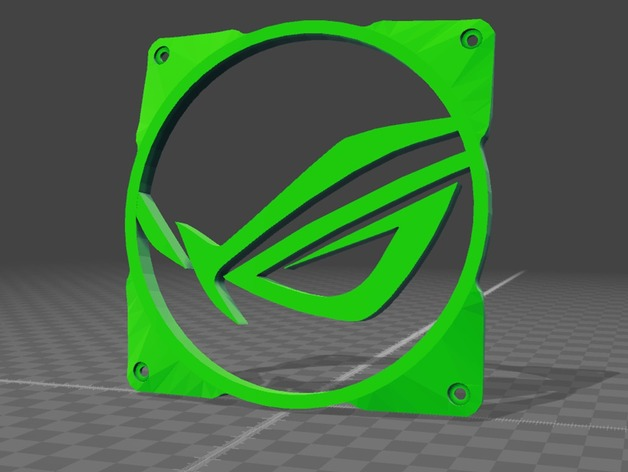 ASUS ROG FAN GRILL 120mm by AVCFRANCE - Thingiverse