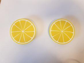 Lemon coaster - Dessous de verre rondelle de citron