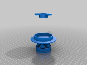 Vertical Filament Holder With Printable Bearing