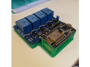 ESP8266 and 4 relay module holder