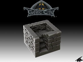 Gothic City Stairs I (JOIN our PATREONs)