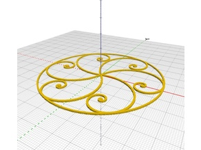 Golden Spiral Snowflake - simplified pattern